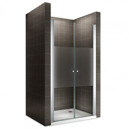 Porte de douche verre semi-opaque