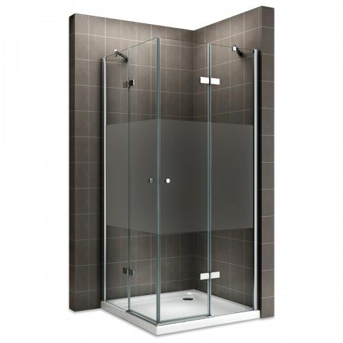 Cabine de douche verre semi-opaque