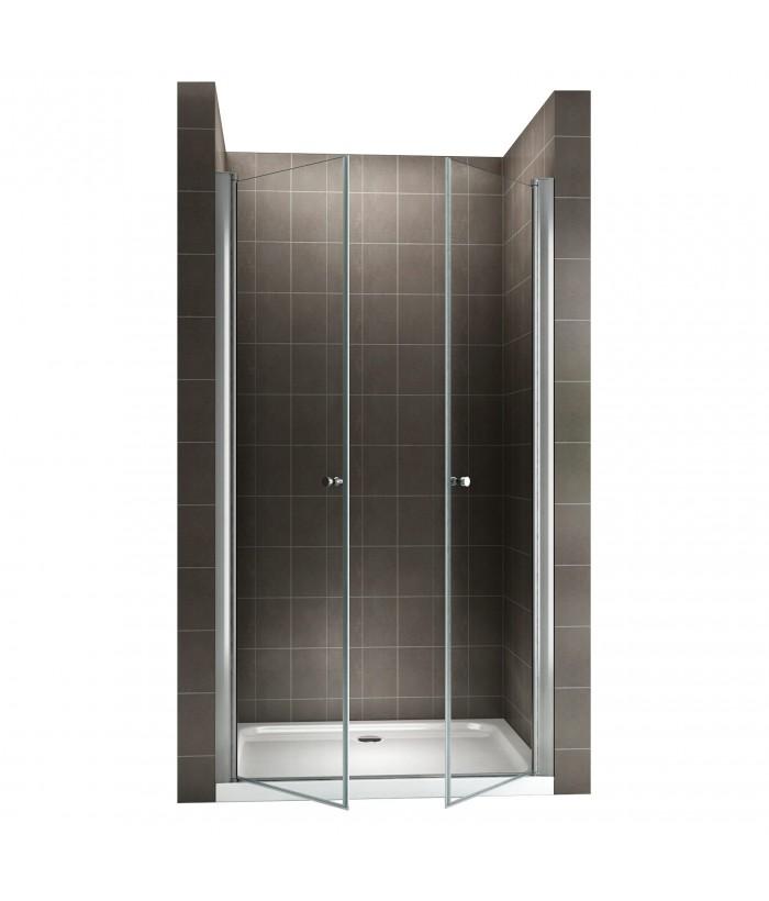 Porte de douche verre transparent
