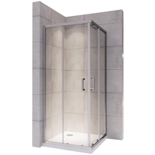porte douche coulissante verre transparent