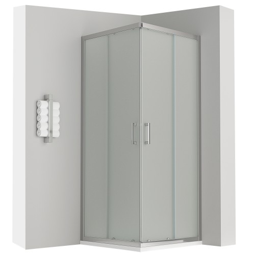LANA cabine de douche coulissante opaque