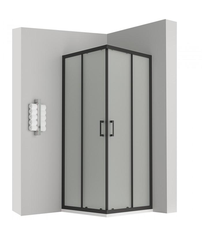 LANABLACK cabine douche noir 190 cm opaque